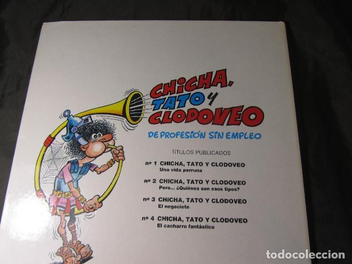 Cómics: CHICHA TATO Y CLODOVEO NÚMERO 4 EL CACHARRO FANTASTICO 1987 - Foto 2 - 131821434
