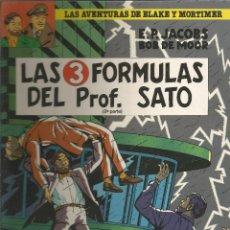 Cómics: LAS AVENTURAS DE BLAKE Y MORTIMER LAS 3 FÓRMULAS DEL PROFESOR SATO (2ª PARTE) JUNIOR. Lote 132056114