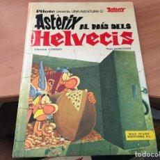 Cómics: ASTERIX AL PAIS DELS HELVECIS. CATALAN (MAS - IVARS EDITORES) PILOTE 1977 PRIMERA EDICION (COIM9). Lote 132417122