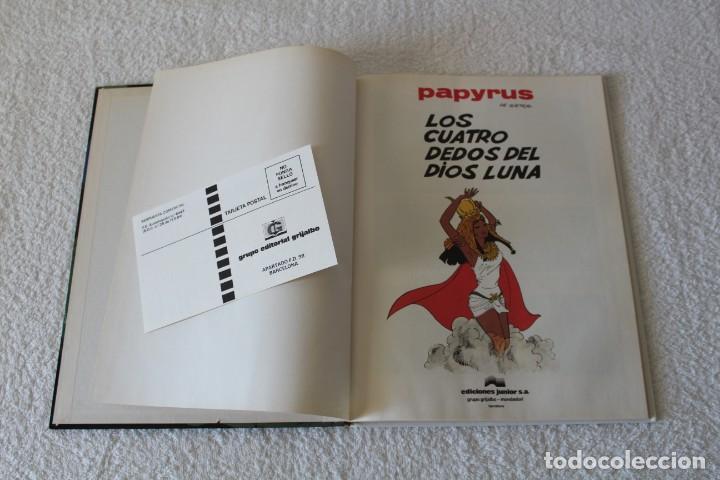 Cómics: PAPYRUS: Nº 6 LOS CUATRO DEDOS DEL DIOS LUNA (De Gieter) - 1989, GRIJALBO, EDICIONES JUNIOR. - Foto 2 - 134042598
