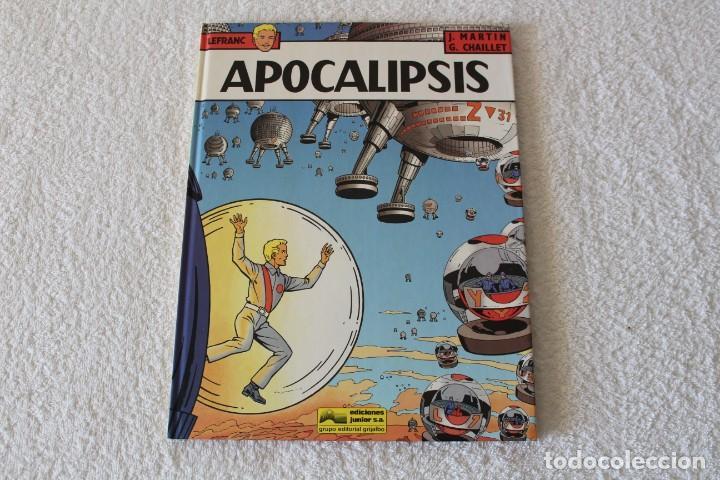 LEFRANC Nº 10 APOCALIPSIS DE JACQUES MARTIN Y GILLES CHAILLET - GRIJALBO, EDICIONES JUNIOR 1989 (Tebeos y Comics - Grijalbo - Lefranc)