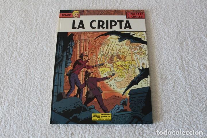 LEFRANC Nº 9 LA CRIPTA DE JACQUES MARTIN Y GILLES CHAILLET - GRIJALBO, EDICIONES JUNIOR 1988 (Tebeos y Comics - Grijalbo - Lefranc)
