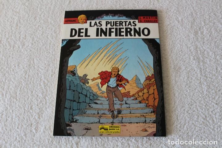 LEFRANC Nº 5 LAS PUERTAS DEL INFIERNO DE JACQUES MARTIN Y GILLES CHAILLET - GRIJALBO, ED JUNIOR 1987 (Tebeos y Comics - Grijalbo - Lefranc)