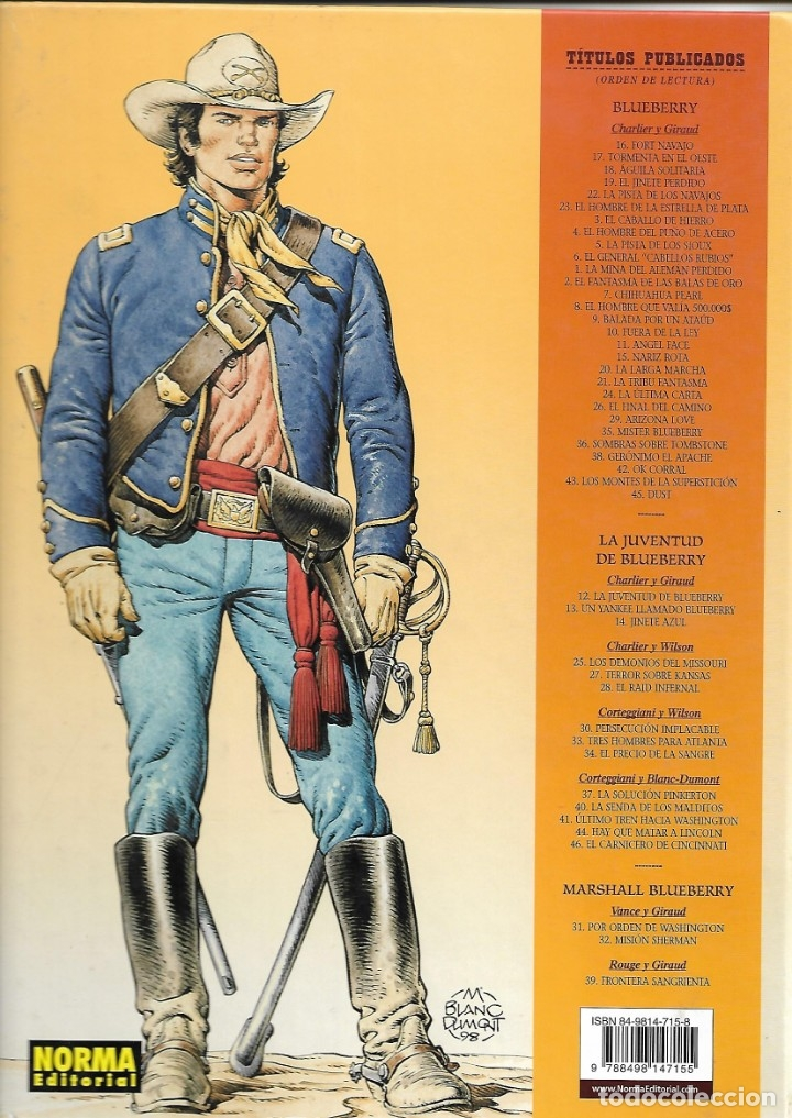 Cómics: El Teniente Blueberry Años 1977 /2006 Lote de 45 Tebeos de Tapas Duras del Nº 1 al 42 - 44 - 46 - 48 - Foto 21 - 134259782