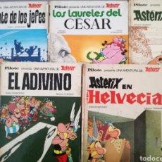Cómics: LOTE DE 5 COMIC DE ASTERIX DE LA EDITORIAL BRUGUERA.AÑOS 60 Y 70. Lote 134900325