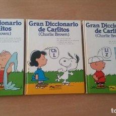 Cómics: GRAN DICCIONARIO DE CARLITOS 3 TOMOS COMPLETA . Lote 135195254