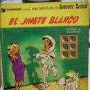 Cómics: LUCKY LUKE. EL JINETE BLANCO. MORRIS & GOSCINNY. EDICIONES JUNIOR, GRUPO EDITORIAL GRIJALBO. 1977. T. Lote 135549542