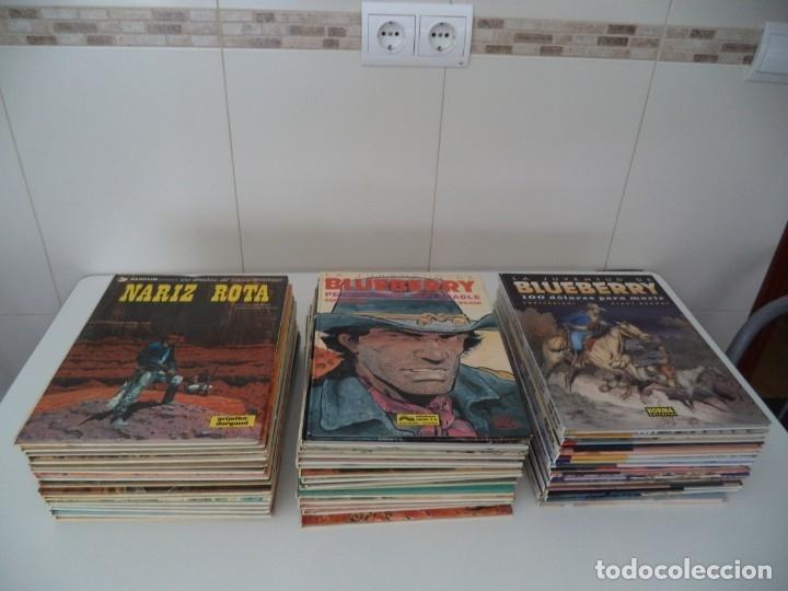 EL TENIENTE BLUEBERRY AÑOS 1977 /2006 LOTE DE 45 TEBEOS DE TAPAS DURAS DEL Nº 1 AL 42 - 44 - 46 - 48 (Tebeos y Comics - Grijalbo - Blueberry)
