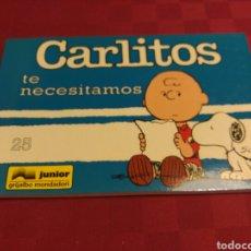 Cómics: CARLITOS 25 - SCHULZ - JUNIOR GRIJALBO MONDADORI 1995. Lote 136116450