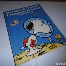 Cómics: GRAN LIBRO DE PREGUNTAS Y RESPUESTAS DE CARLITOS ,TOMO 2 , CHARLIE BROWN SNOOPY , GRIJALBO DARGAUD. Lote 139588370
