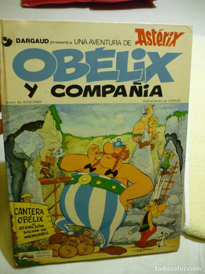 OBÉLIX Y COMPAÑIA - GOSCINNY - EDIC. JUNIOR 1977 - ILUSTRA UDERZO (TAPA DURA) (Tebeos y Comics - Grijalbo - Asterix)