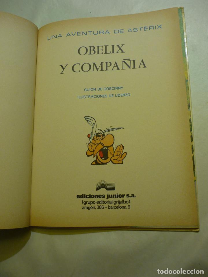 Cómics: OBÉLIX Y COMPAÑIA - GOSCINNY - EDIC. JUNIOR 1977 - ILUSTRA UDERZO (TAPA DURA) - Foto 3 - 140625930