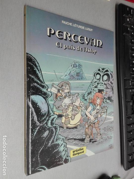PERCEVAN Nº 4: EL PAÍS DE ASLOR / FAUCHE, LÉTURGIE, LUGUY / GRIJALBO DARGAUD 1976 (Tebeos y Comics - Grijalbo - Percevan)
