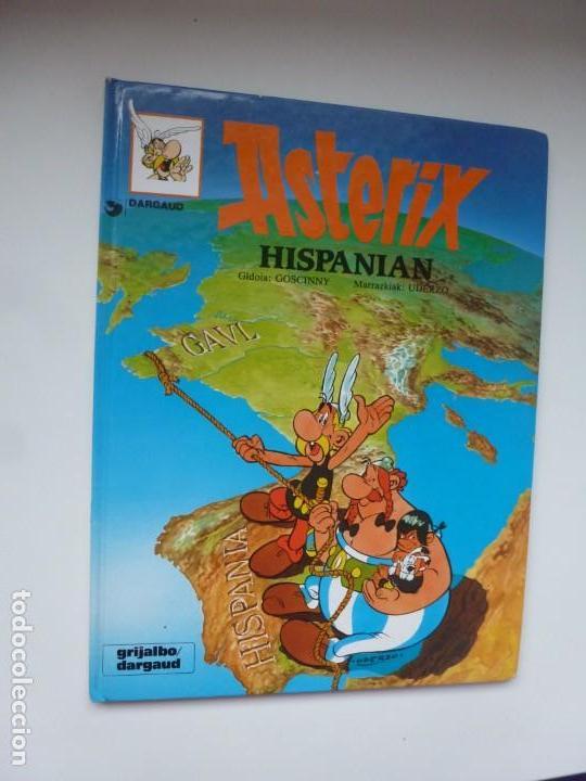 ASTERIX HISPANIAN. ASTÉRIX EN HISPANIA. UDERZO/GOSCINNY. EN EUSKERA. TAPAS DURAS. (Tebeos y Comics - Grijalbo - Asterix)
