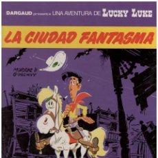 Cómics: LUCKY LUKE 38 LA CIUDAD FANTASMA. TAPA DURA. Lote 142454334