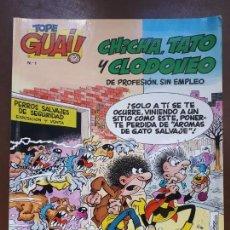 Cómics: TOPE GUAI Nº1 - CHICHA, TATO Y CLODOVEO - 1986. Lote 142950014