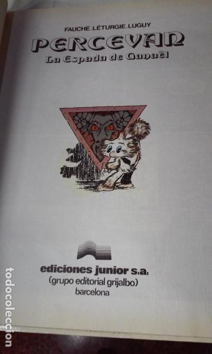 Cómics: PERCEVAN N° 3 - LAS ESPADA DE GANAEL- (JUNIOR - GRIJALBO) - Foto 4 - 143655498