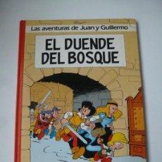 Cómics: LAS AVENTURAS DE JUAN Y GUILLERMO. EL DUENDE DEL BOSQUE, Nº 3. PEYO. EDICIONES JUNIOR 1986. Lote 143675982