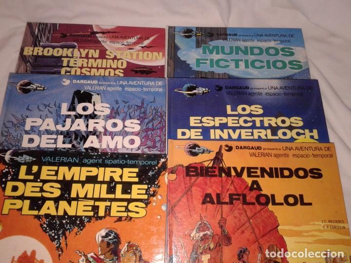 LOTE DE 6 COMICS DE VALERIAN, Nº 3-4-6-10-11, EN ESPAÑOL Y OTRO EN FRANCES (Tebeos y Comics - Grijalbo - Valerian)