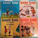 Cómics: LUCKY LUKE Y SU MUNDO - 4 LIBRITOS: LOS INDIOS - LOS COW-BOYS - LOS TRAMPEROS - LA CABALLERIA. Lote 145434002