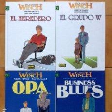 Cómics: LOTE LARGO WINCH TOMO 1 2 3 Y 4 POR JEAN VAN HAMME PHILIPPE FRANCQ. Lote 161173425