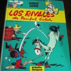 Comics : LOS RIVALES DE PAINFUL GULCH LUCKY LUKE Nº 33 GOSCINNY GRIJALBO DARGAUD AÑO 1987 TAPA DURA. Lote 146130634