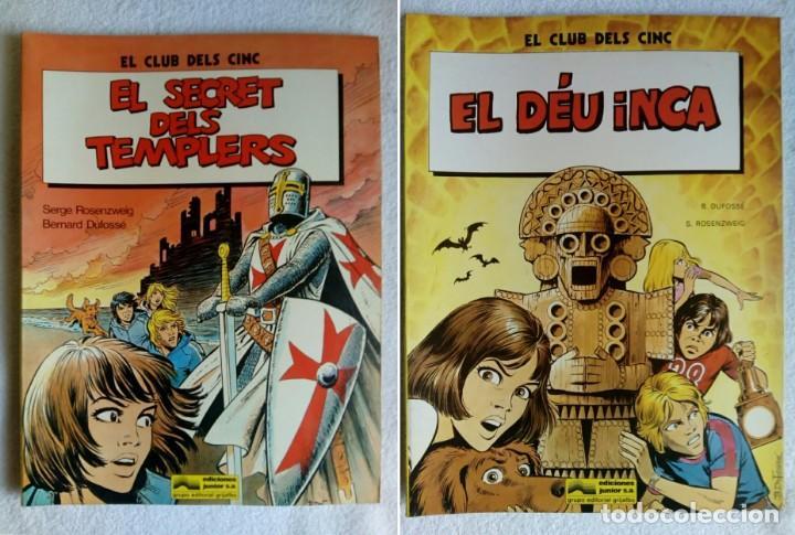 LOTE DE 2 COMICS: EL CLUB DELS CINC * EL SECRET DELS TEMPLERS & EL DÉU INCA (Tebeos y Comics - Grijalbo - Otros)