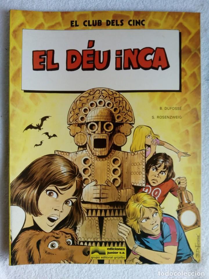 Cómics: Lote de 2 Comics: EL CLUB DELS CINC * El secret dels templers & El Déu Inca - Foto 2 - 147202030