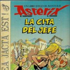 Cómics: ASTERIX - LA CITA DEL JEFE - LIBRO JUEGO DE AVENTURAS Nº 1 - ED. JUNIOR 1988, TAPA DURA, 1ª EDICION. Lote 147753422