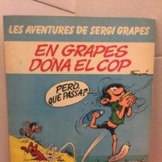 Cómics: EN GRAPES DONA EL COP, LES AVENTURES DE SERGI GRAPES - EN CATALÀ. Lote 148161086