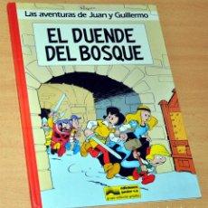 Cómics: AVENTURAS DE JUAN Y GUILLERMO - EL DUENDE DEL BOSQUE - DE PEYO - EDICIONES JUNIOR / GRIJALBO - 1986. Lote 148888126