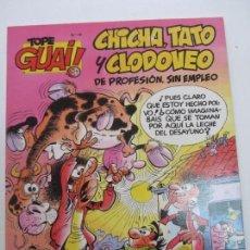 Cómics: TOPE GUAI! Nº 19 - CHICHA, TATO Y CLODOVEO - MOGOLLÓN EN LA GRANJA - EDICIONES JUNIOR CX05. Lote 150672806