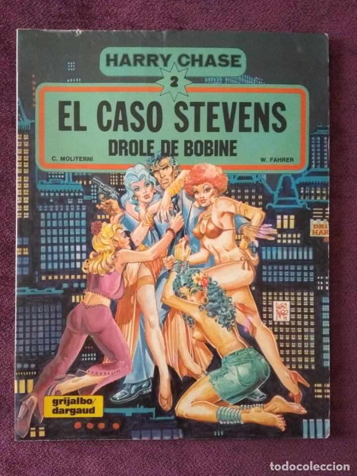 HARRY CHASE 2: EL CASO STEVENS - DROLE DE BOBINE ED. GRIJALBO 1982 (Tebeos y Comics - Grijalbo - Otros)