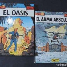 Cómics: LEFRANC / EL OASIS ( Nº7 ) EL ARMA ABSOLUTA ( Nº 8 ) GRIJALBO - JUNIOR 1987 / TAPA DURA /SIN USAR. Lote 152037802
