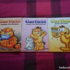 Cómics: GARFIELD CARTONÉ, GARFIELD ENSEÑA LOS DIENTES, UN GATO CON PRETENSIONES, ¡VAYA BOCATA!. Lote 152520846