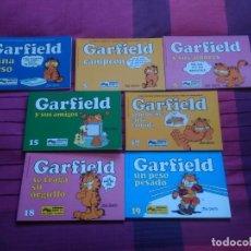 Cómics: GARFIELS, LOTE DE 7 LIBROS. EDICIONES JUNIOR, 1981. COMO NUEVOS. Lote 152521022