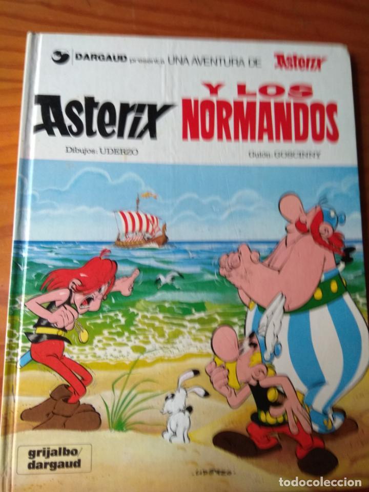 ASTERIX , Y LOS NORMANDOS - EDICIONES GRIJALBO 1980 - TAPA DURA (Tebeos y Comics - Grijalbo - Asterix)