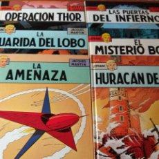 Fumetti: COLECCION LEFRANC 6 PRIMEROS TOMOS - GRIJALBO EDICIONES JUNIOR- LA AMENAZA, HURACAN DE FUEGO.... Lote 153850674