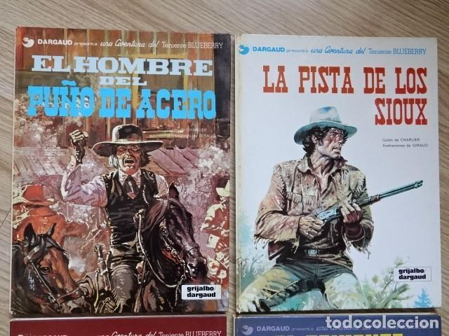 Comics: Lote 4 Teniente Blueberry hombre puño acero 5 pista Sioux 6 General cabellos rubios 9 Balada ataúd - Foto 2 - 154414642