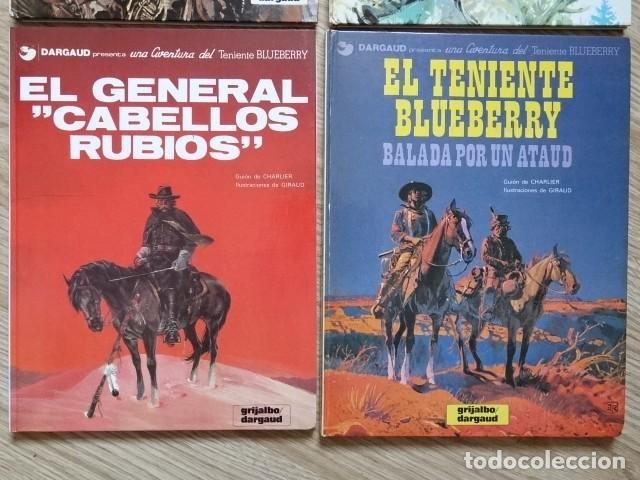 Comics: Lote 4 Teniente Blueberry hombre puño acero 5 pista Sioux 6 General cabellos rubios 9 Balada ataúd - Foto 3 - 154414642
