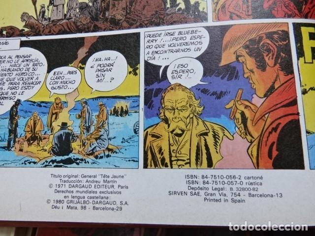 Comics: Lote 4 Teniente Blueberry hombre puño acero 5 pista Sioux 6 General cabellos rubios 9 Balada ataúd - Foto 10 - 154414642