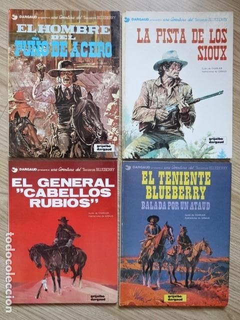 LOTE 4 TENIENTE BLUEBERRY HOMBRE PUÑO ACERO 5 PISTA SIOUX 6 GENERAL CABELLOS RUBIOS 9 BALADA ATAÚD (Comics und Tebeos - Grijalbo - Blueberry)