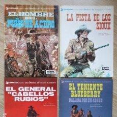 Cómics: LOTE 4 TENIENTE BLUEBERRY HOMBRE PUÑO ACERO 5 PISTA SIOUX 6 GENERAL CABELLOS RUBIOS 9 BALADA ATAÚD. Lote 154414642