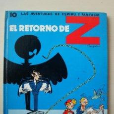 Cómics: EL RETORNO DE Z (LAS AVENTURAS DE SPIROU I FANTASIO Nº 10) TAPA DURA CARTONÉ JAIMES. Lote 154625286