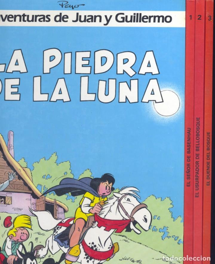 AVENTURAS DE JUAN Y GUILLERMO (COMPLETA 4 TOMOS) JOHAN Y PIRLUIT (PITUFOS). DIBUJOS DE PEYO (Tebeos y Comics - Grijalbo - Otros)