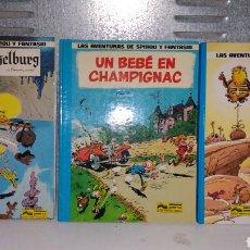 Cómics: LAS AVENTURAS DE SPIROU Y FANTASIO N° 14,15 ,20 UN BEBÉ EN CAMPIGNAC Y QRN BRETGETBURG. Lote 154720153