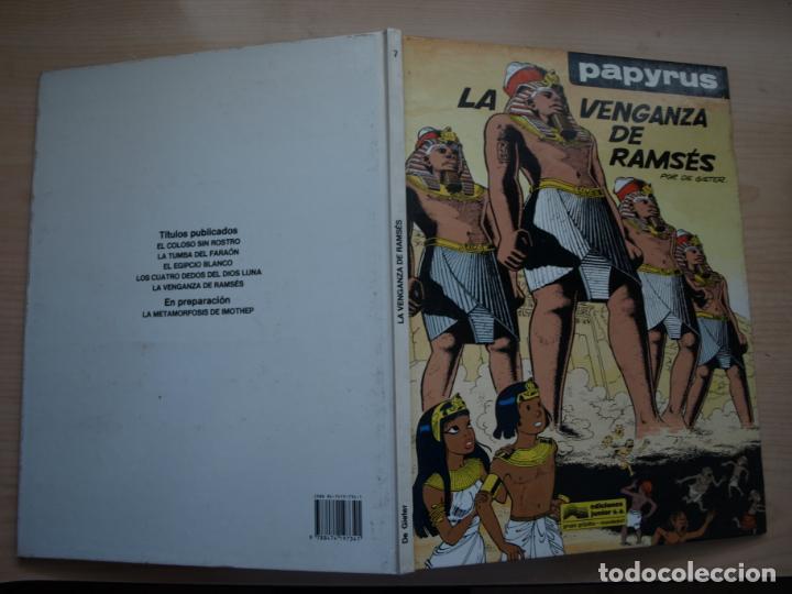 PAPYRUS - LA VENGANZA DE RAMSES - NÚMERO 7 - TAPA DURA - JUNIOR (Tebeos y Comics - Grijalbo - Papyrus)