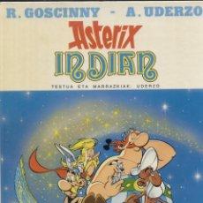 Cómics: ASTERIX INDIAN 1ª ED. EUSKERA 1987 TAPA DURA COMO NUEVO, SIN SEÑALES. Lote 155583182