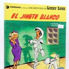 Cómics: UNA AVENTURA DE LUCKY LUKE. EL JINETE BLANCO (MORRIS / GOSCINNY) JUNIOR / GRIJALBO, 1977. Lote 155958612