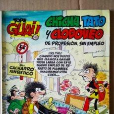 Cómics: TOPE GUAI! N°7: CHICHA, TATO Y CLODOVEO. 'EL CACHARRO FANTÁSTICO'. POR IBÁÑEZ. JUNIOR GRIJALBO, 1987. Lote 157353144